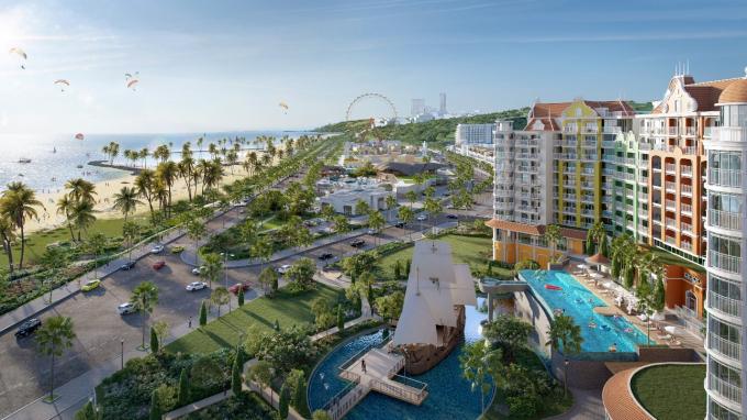 Phối cảnh Siêu thành phố biển – du lịch – sức khỏe NovaWorld Phan Thiet quy mô 1,000ha