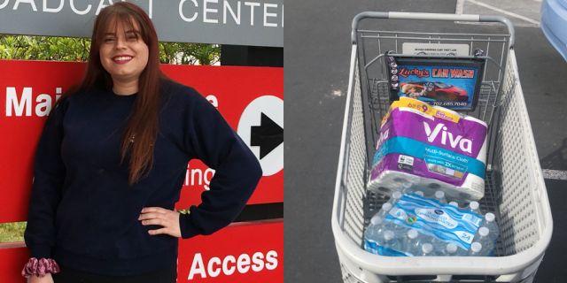 Jayde Powell đã cùng đội sinh viên tình nguyện mua giúpnhu yếu phẩmcho những người già trong đại dịch Covid-19.