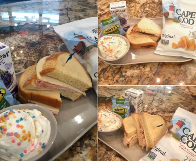 Suất ăn miễn phí mà Doug Lammers, chủ một quán cafe nhỏ ở Myrtle Beach dành cho học sinh trong giai đoạn đóng cửa vì Covid-19.