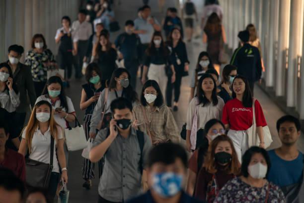 Tình hình ô nhiễm không khí khiến khẩu trang được dùng rộng rãi như một hình thức bảo vệ sức khỏe (Ảnh: istock).