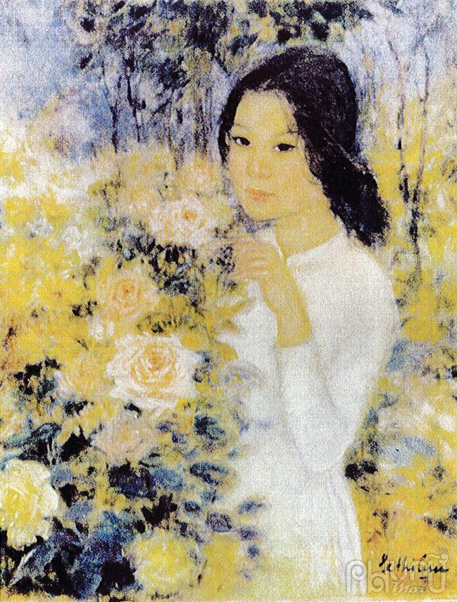 Một trong những tác phẩm của nữ họa sỹ Lê Thị Lựu.