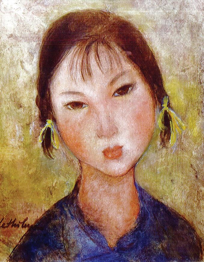 Một tác phẩm của nữ họa sỹ.