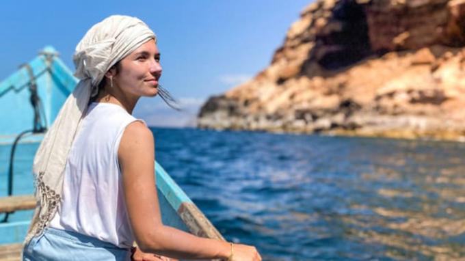 Eva zu Beck trên hòn đảo Socotra (Ảnh:Eva zu Beck).