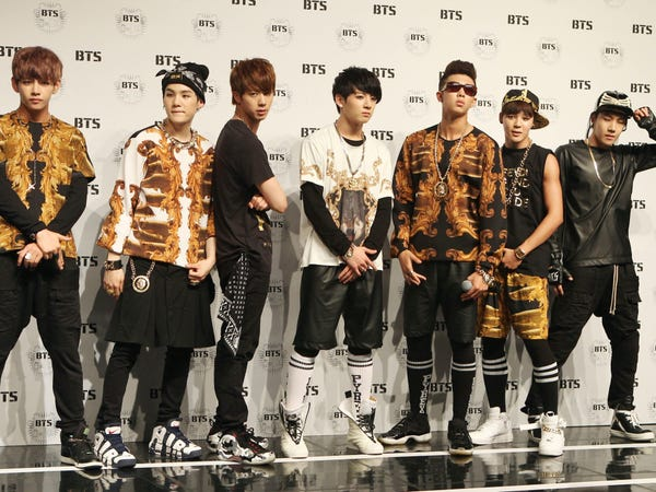 BTS tại buổi ra mắt ở Seoul tháng 6/2013 (Ảnh:Ilgan Sports/Getty Images).