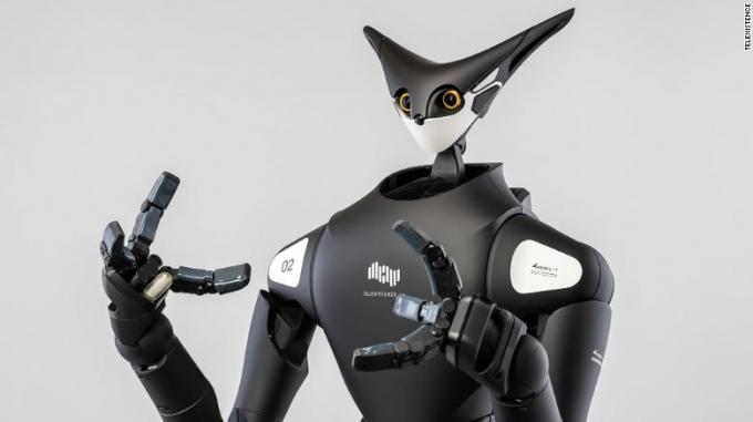 Robot Model-T được phát triển bởi công ty khởi nghiệp Nhật Bản Telexistence (Ảnh:CNN).