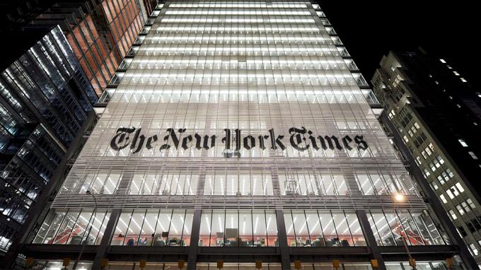 New York Times là một công ty truyền thông cung cấp thông tin tiếng tăm hàng đầu tại Mỹ (Ảnh:Justin Lane/Shutterstock).