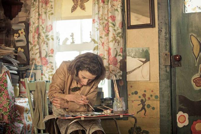 Hình ảnh Maud Lewis trong tác phẩm