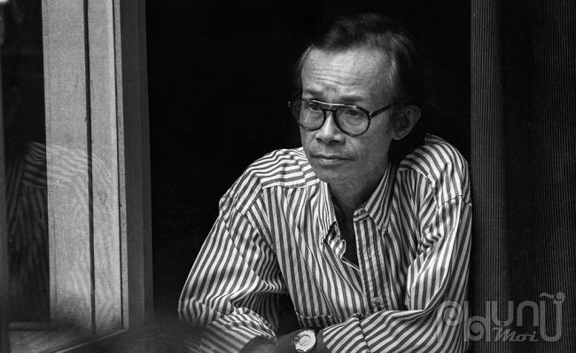 Chân dung cố nhạc sĩ Trịnh Công Sơn (Ảnh: Dương Minh Long).