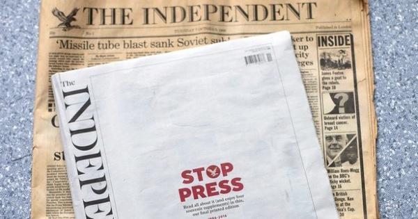 Sau hơn 36 năm thống trị, tờ The Independent của Anh đã chính thức ngừng xuất bản khiến nhiều người tiếc nuối